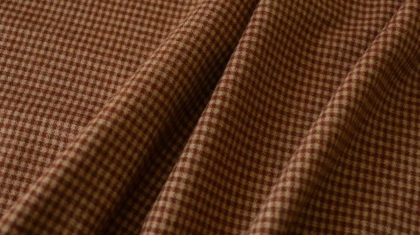 BRUSHED WOOL VOLTAIRE - Small check design - Brushed surface