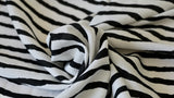 REMNANT  0.55m x 1.50m - VISCOSE LAWN FABRIC - Stripe design