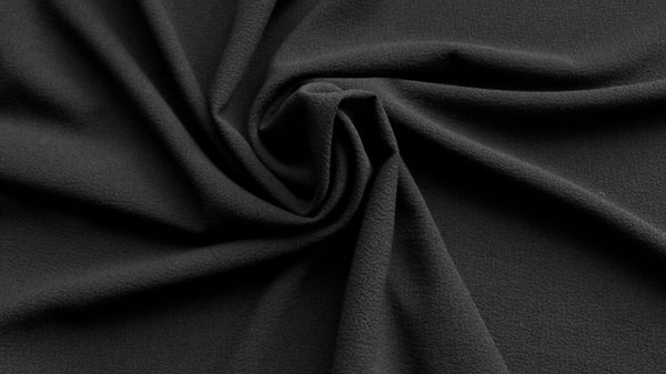 CREPE FABRIC - Black colour - 2 way give
