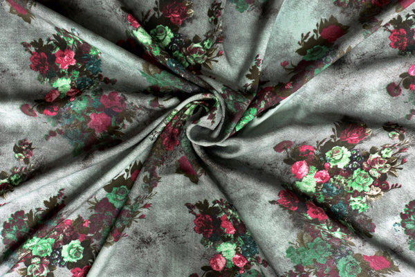 viscose-challis-fabric-rose-design-green-pink-clothcontrol