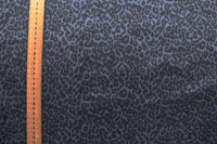LINING FABRIC - Animal print design - Light weight- Steel blue and black