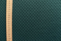 ponte-roma-fabric-quilted-square-design-dark-green-colour-2-way-stretch-clothcontrol