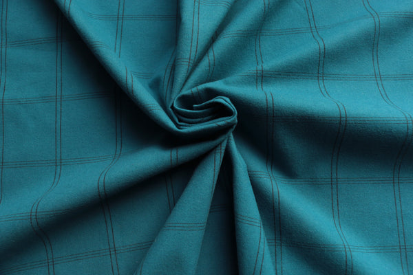 brushed-cotton-fabric-black-check-design-on-dark-turquoise-clothcontrol