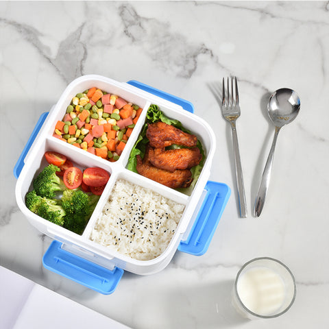 Square 4 grid heating lunch box
