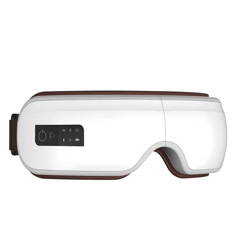 Rechargeable eye massager steam heated eye mask bluetooth eye care device
