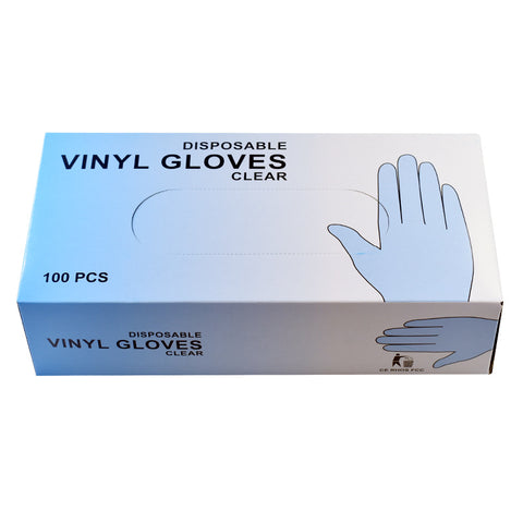 PVC rubber gloves 100 pcs