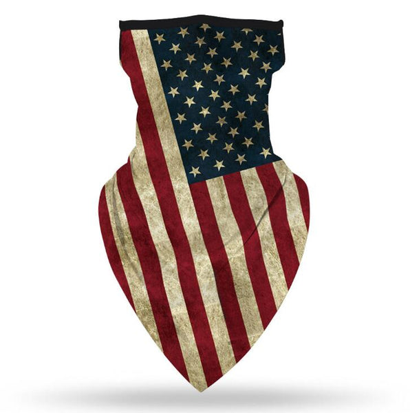 Ear Hanger Face Bandana,American Flag Red