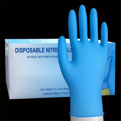 Disposable Nitrile Gloves Rubber Acid and Alkali Resistant Industrial Protection