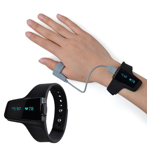 Wearable Wrist Overnight Oximeter, for Monitoring Oxygen Saturation, Bluetooth