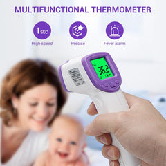 Digital No Touch Forehead Medical Thermometer for Fever, Purple