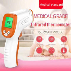 LCD Digital Infrared Medical Forehead Thermometer for Fever, Orange