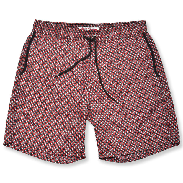 Boxes Swim Trunks - Red/Black