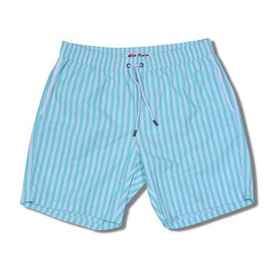 Cabana Stripe Swim Trunks - Mint Green
