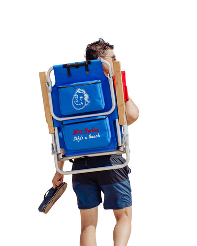 Mr. Swim Folding Beach Chair / Backpack