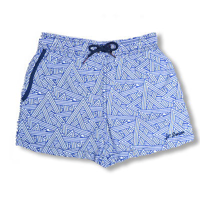 Jr. Swim - Kids Swim Trunks - Angled Light Blue
