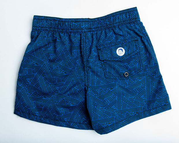 Jr. Swim - Kids Swim Trunks - Angled Navy Blue