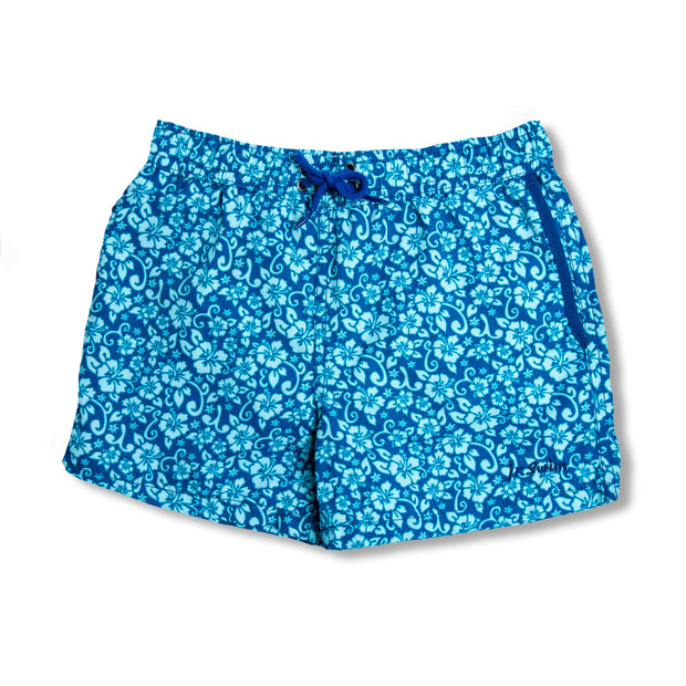 Jr. Swim - Kids Swim Trunks - Floral Blue