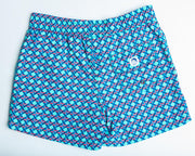 Jr. Swim - Kids Swim Trunks - Hexagon Blue and Aqua