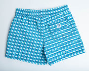 Jr. Swim - Kids Swim Trunks - Hexagon Turquoise