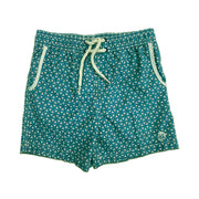Jr. Swim - Kids Swim Trunks - Interlocking Triangle Aqua