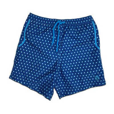 Jr. Swim - Kids Swim Trunks - Geometric Navy Blue