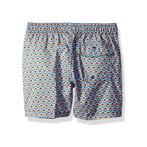 Jr. Swim - Kids Swim Trunks - Tiles Yellow