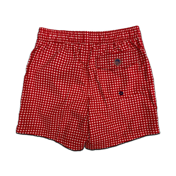 Jr. Swim - Kids Swim Trunks - Gingham Red