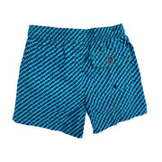 Jr. Swim - Kids Swim Trunks - Turquoise Blue Boxes