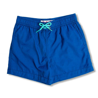 Jr. Swim - Kids Swim Trunks -  Solid Blue