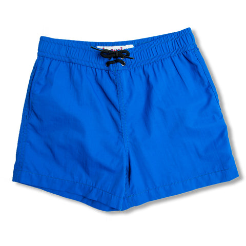 Jr. Swim - Kids Swim Trunks -  Solid Royal Blue