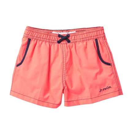 Jr. Swim - Kids Swim Trunks -  Solid Electric Red