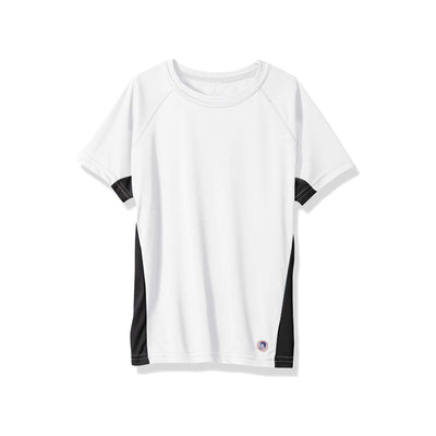 Jr. Swim - Kids UPF 50+ Swim Tee - White and Black