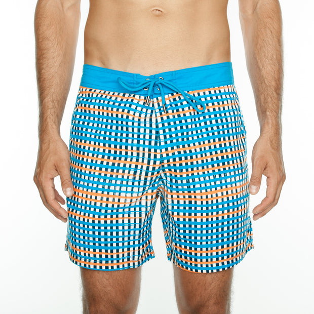 Plaid Board Short - Orange