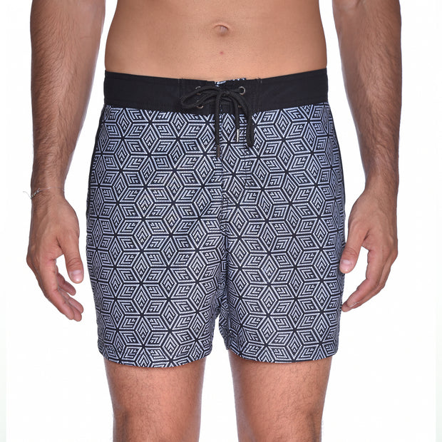 Cube Board Short - Black