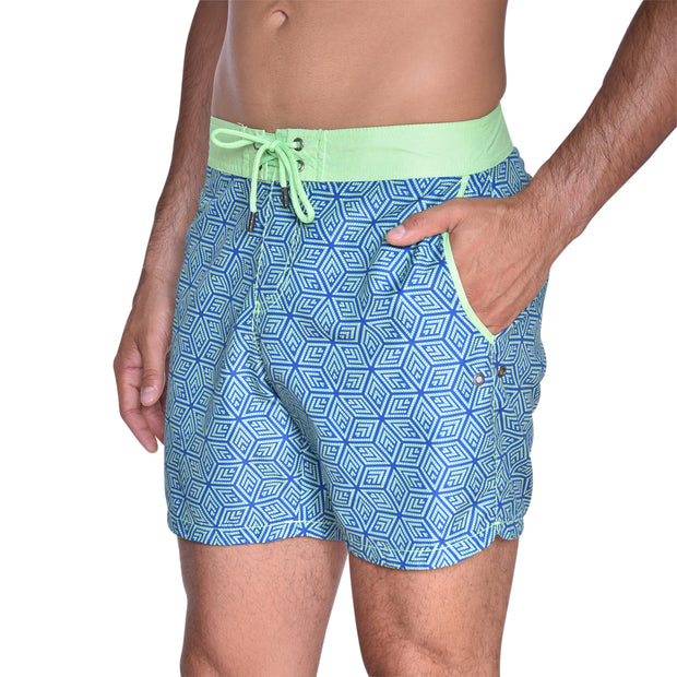 Cube Board Short - Mint