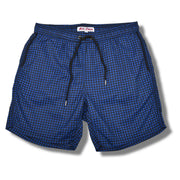 Navy Houndstooth Swim Trunks