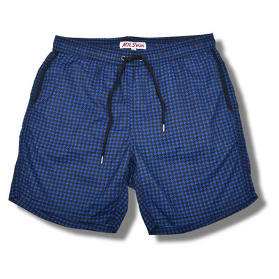 Houndstooth Swim Trunks - Navy