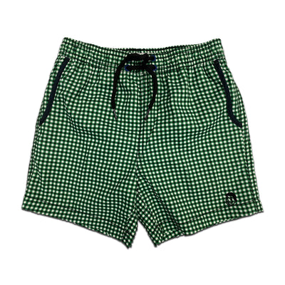 Jr. Swim - Kids Swim Trunks - Gingham Dark Green