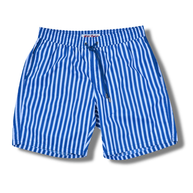 Cabana Stripe Swim Trunks - Ocean Blue