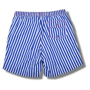Cabana Stripe Swim Trunks - Royal Blue