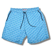 Light Blue Pebbles Swim Trunks