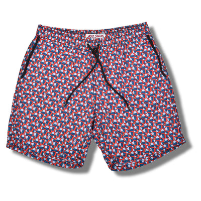 Red Pebbles Swim Trunks