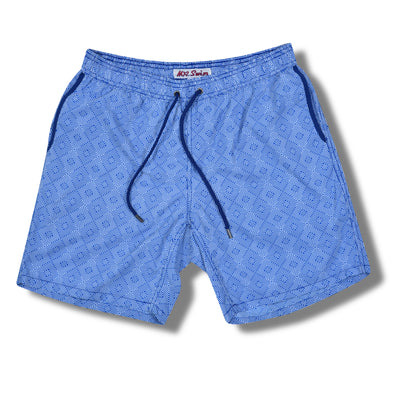 Navy Maze Swim Trunks