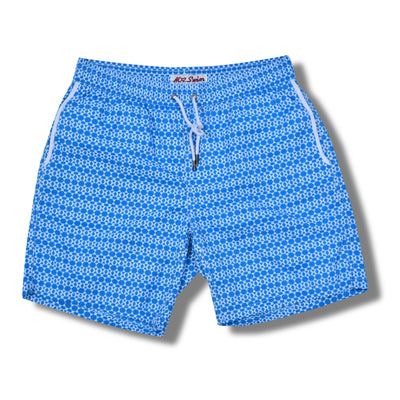 Navy Zip Swim Trunks