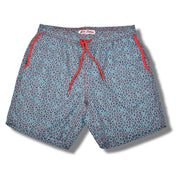 Polygon Swim Trunks - Red and Blue