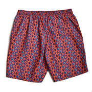 Geodes Elastic Waist Swim Trunks - Red/Blue