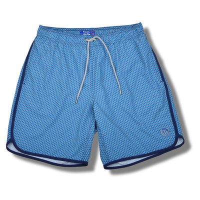Light Blue Star Cluster Swim Trunks