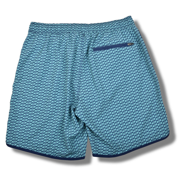 Turquoise Dolphin Swim Trunks
