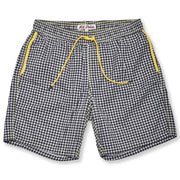 Black Houndstooth Swim Trunks