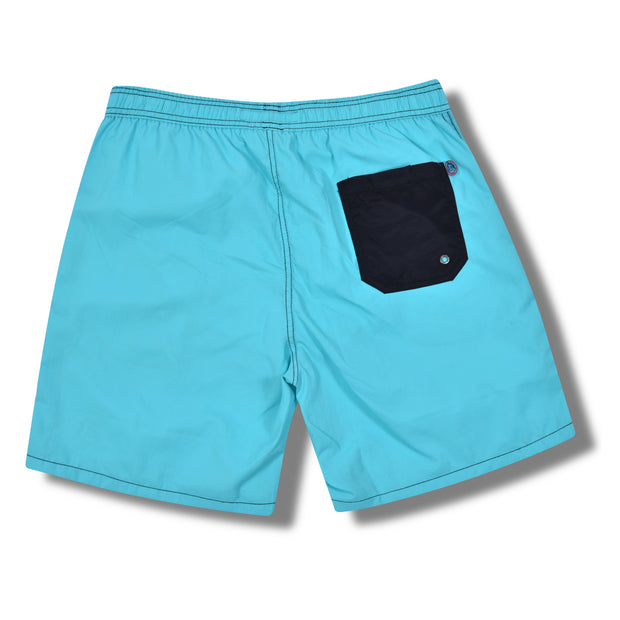 Solid Swim Trunks - Arctic Blue